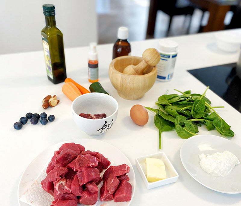 Zutaten für Kochrezept für den Hund